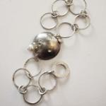 Armband aus 925 Sterlingsilber mit Mondstein und Perle