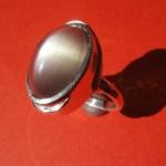 Ring aus 925 Sterlingsilber mit Mondstein