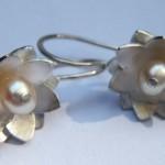Ohrgehänge aus 925 Sterlingsilber und Perlen