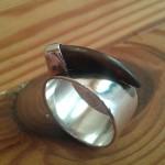 06.07 Ring aus 925 Sterlingsilber mit Dachskralle