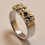 Ring aus 925 Sterlingsilber und Turmalin