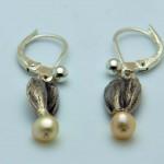 Ohrgehänge aus 925 Sterlingsilber und Perle