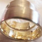 Eheringe aus 585 Gelbgold mit 585 Weißgold und Brillant